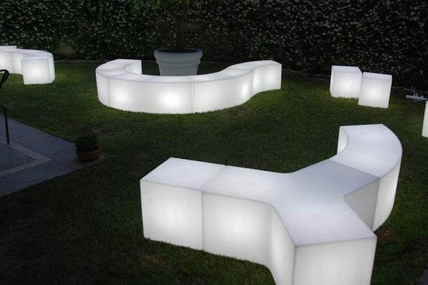 mobiliers lumineux soirée